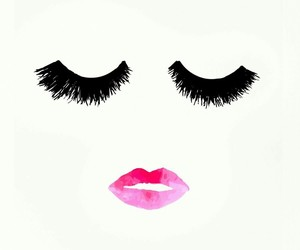 wallpaper, lips, and eyes image