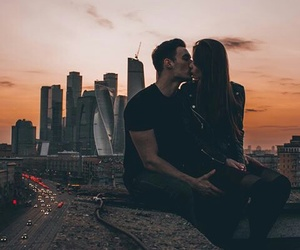 city, love, and couple image