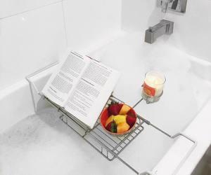 bath, book, and bubblebath image