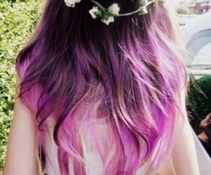 flowers, purple, and ombre image