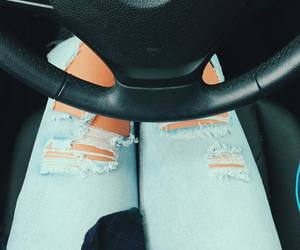 car, fashion, and jeans image