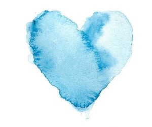 blue, heart, and love image