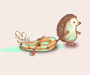hedgehog and funny image