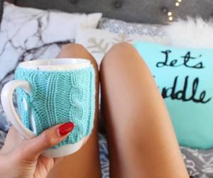 blue, mug, and decor image