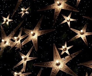 gold, black, and stars image