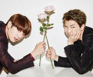 bts, jungkook, and rap monster image