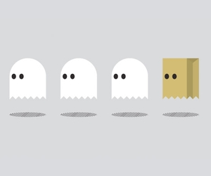 ghosts, illustration, and Pac Man image