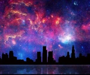 galaxy and city image