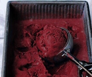 red, ice cream, and food image
