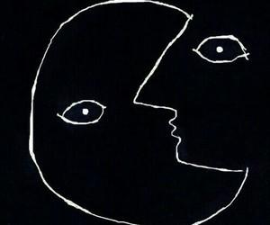 art, grunge, and moon image