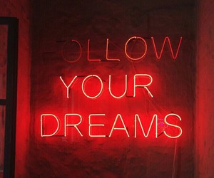 red, neon, and dreams image