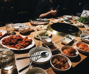 dinner, food, and korean image