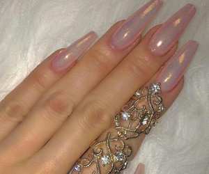 deutsch, nails, and pink image