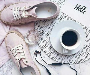 coffee, morning, and music image