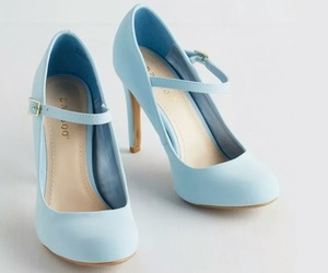 blue, heels, and light blue image