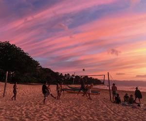 beach, hawaii, and tropic image