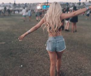 coachella, summer, and blonde image