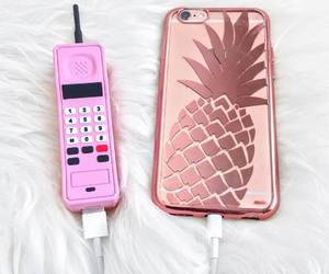 phone, quality, and pineapple image
