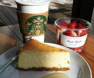food, cake, and starbucks image