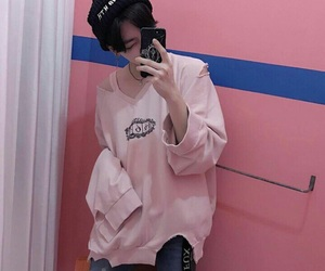 boy, pink, and asian image