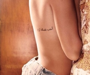 arabic, side, and tattoo image