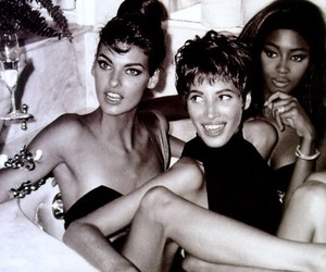 Christy Turlington, linda evangelista, and Naomi Campbell image