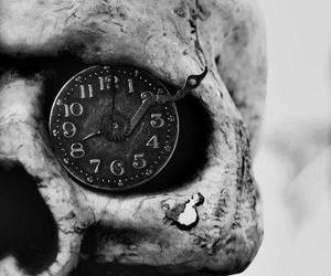 skull, clock, and time image