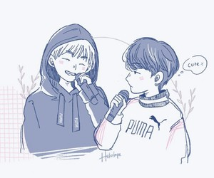 bts, yoongi, and taehyung image