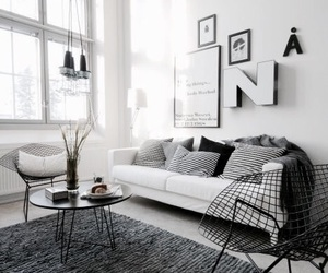 black and white, house, and ikea image