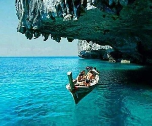 blue sea, blue water, and fun image