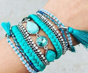 pulseiras, turquoise, and mystyle image