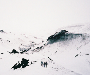 white, landscape, and mountains image