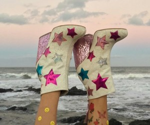 glitter, shoes, and stars image