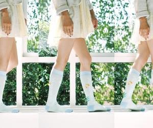 beautiful, girl, and socks image
