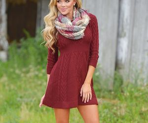 fashion, sweaters, and winter dresses image