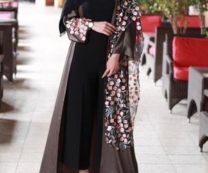 arabian, hijab, and abaya image