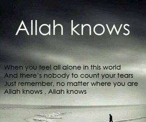 allah, islam, and allah knows image