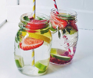 fruit, drink, and water image