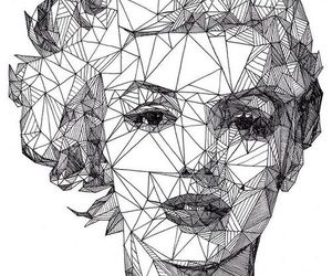 art, Marilyn Monroe, and black and white image