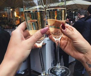 champagne, girls, and tumblr image