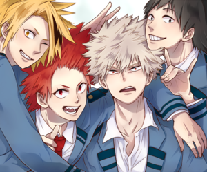 anime, midoriya, and todoroki image