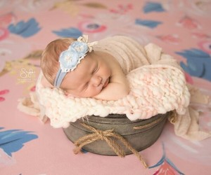 baby, basket, and sleeping beauty image