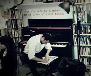 music, pianist, and love image