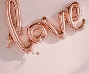 background, balloons, and love image