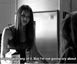 cry, quote, and tvd image