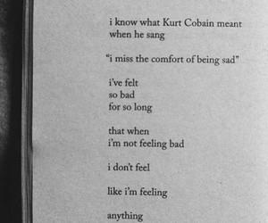 sad song, bad, and kurt cobain image