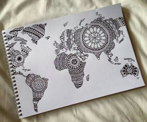 world and draw image