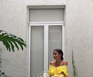 aesthetic, yellow dress, and art deco image