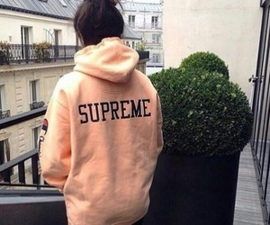 girl and supreme image