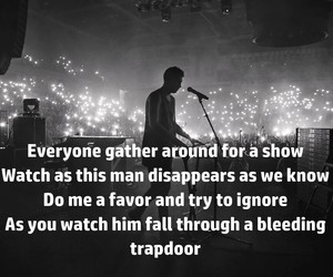 black and white, Lyrics, and trapdoor image